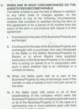 clause 5 of the contract