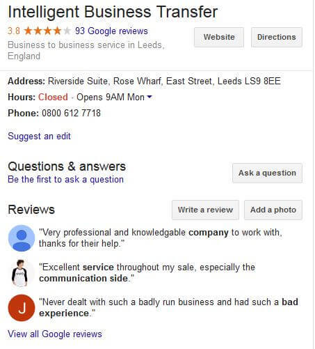 IBT#s Google Reviews