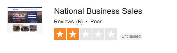 trustpilot reviews for National Business Sales