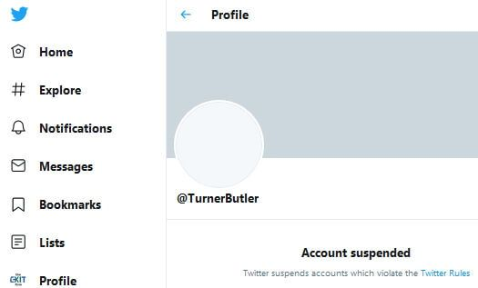 Turner Butler's Twitter account